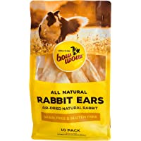 Bow Wow, Rabbit Ears, Dog Treats, 10 pack