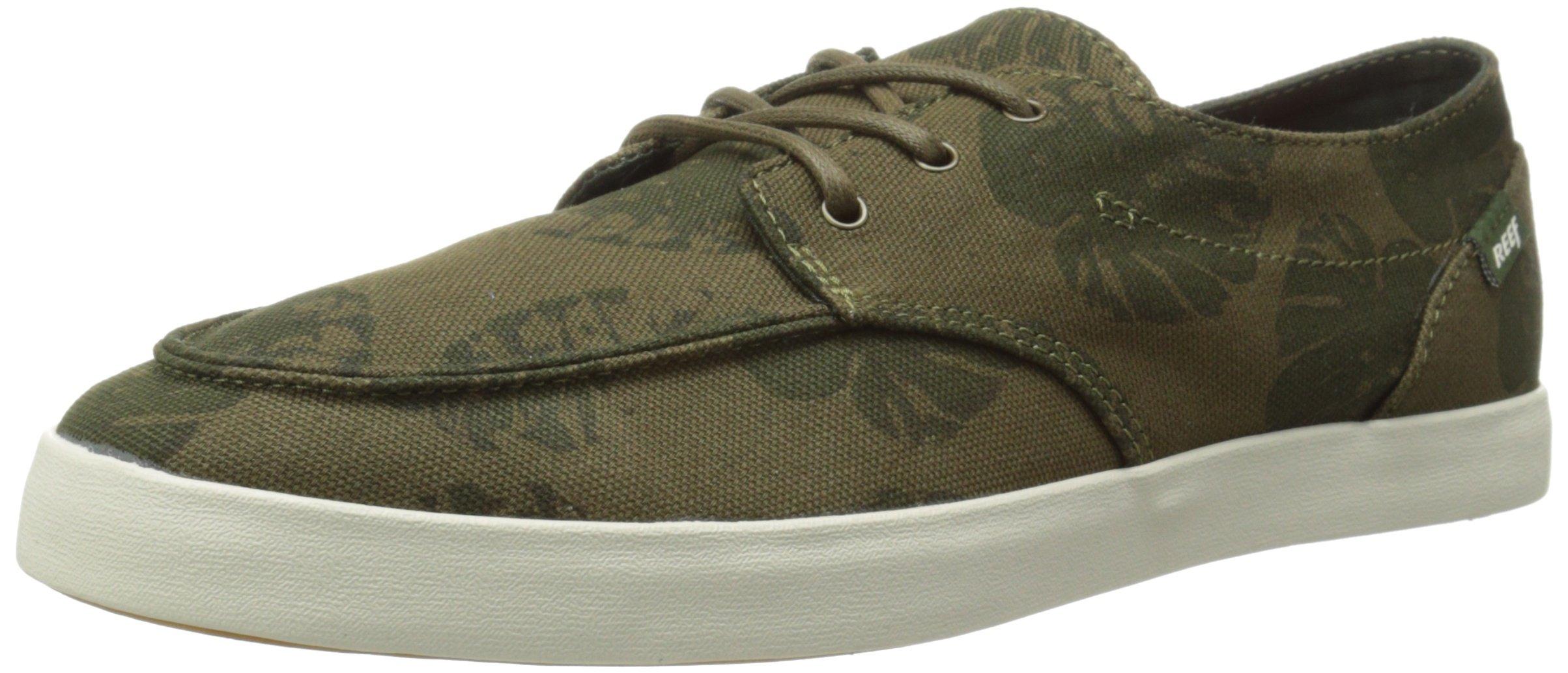 Reef Men's Deckhand 2 Prints Fashion Sneaker, Olive Palm, 11 M US