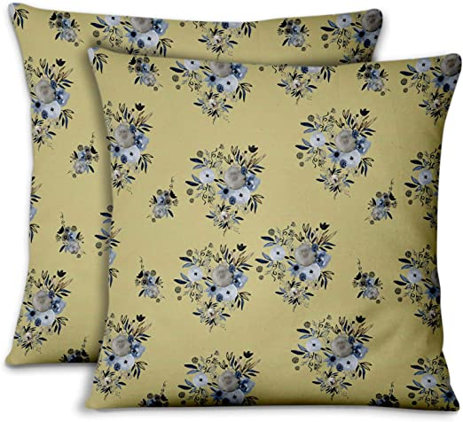 New Ivory Ethnic Velvet Brocade Pillow Cushion Cover Bed Sofa Couch Throw Decor