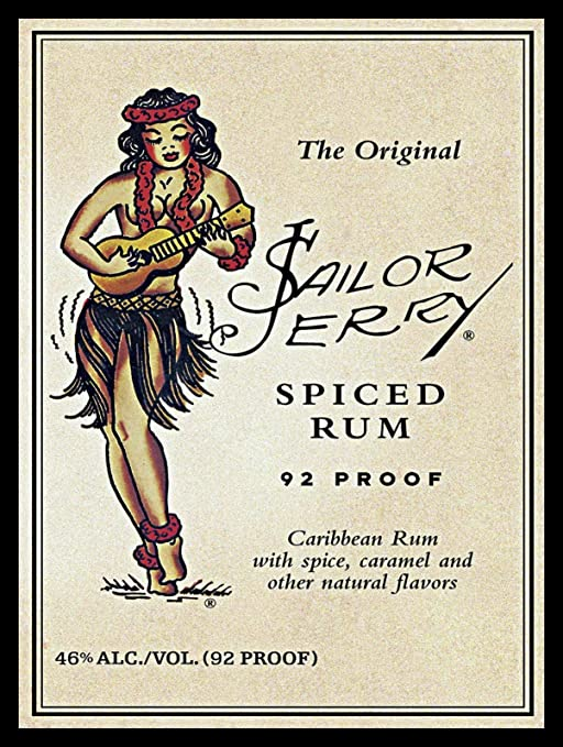 Amazon.com: Yilooom Sailor Jerry - Cartel de metal retro ...