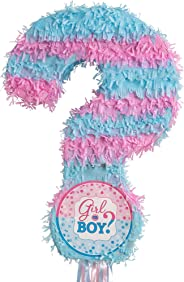 Ya OTTA Pinata or Boy Gender Reveal Pull String Pinata, Blue and Pink, 22