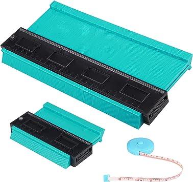 10 Inch//5 Inch Contour Gauge Profile Tool Mark Measure Ruler Profile Duplicator