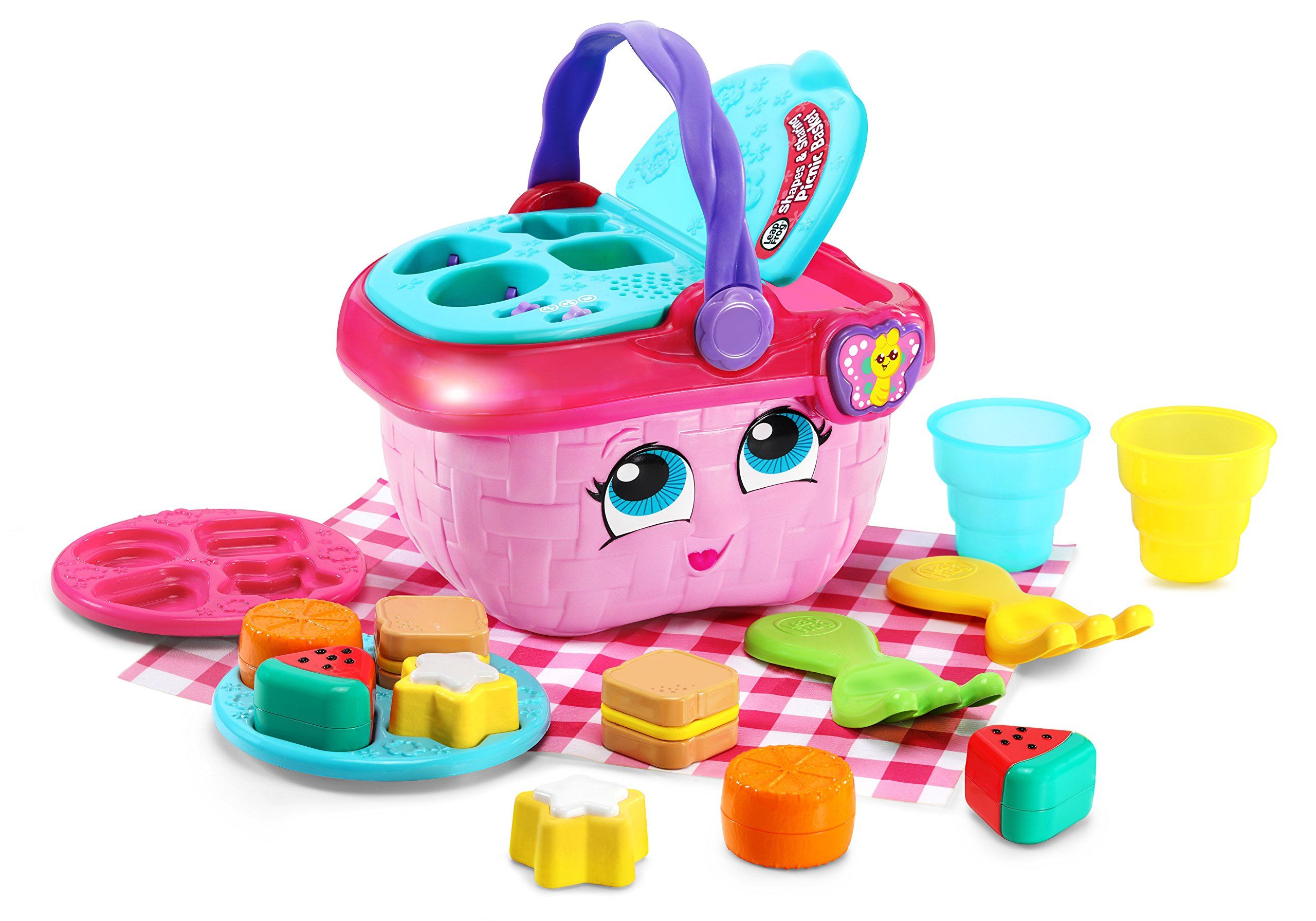LeapFrog Shapes & Sharing Picnic Basket, Pink by LeapFrog (Image #1)
