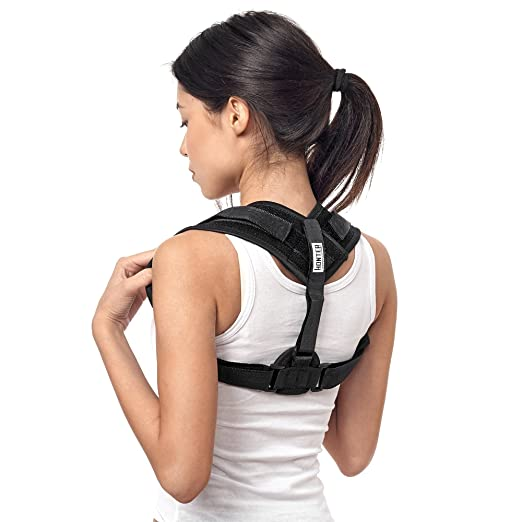 Back Posture Corrector, Honter Clavicle Brace, Adjustable Back Support Brace for Men, Women & Children,