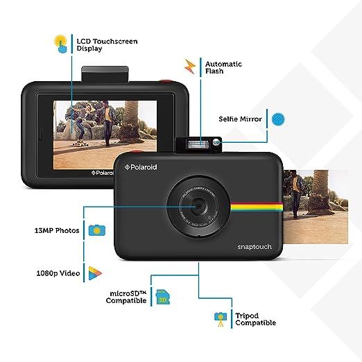 Polaroid Snap Touch 2.0 - Cámara digital portátil instantánea de 13 Mp, Bluetooth, pantalla táctil LCD, tecnología Zink sin tinta y nueva aplicación, ...