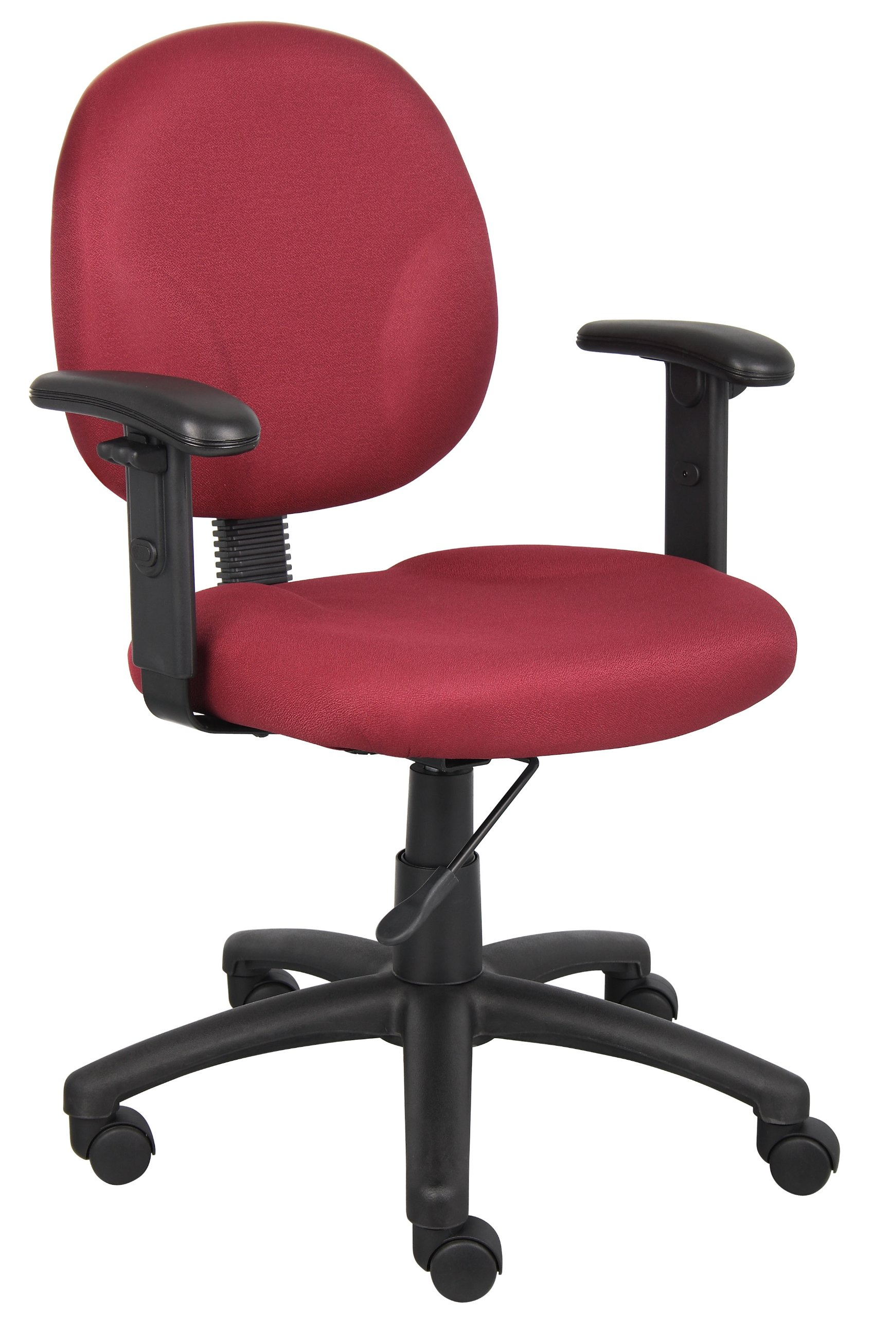 Boss Office Products B9091-BY Dimond Task Chair with Adjustable Arms in Burgundy
