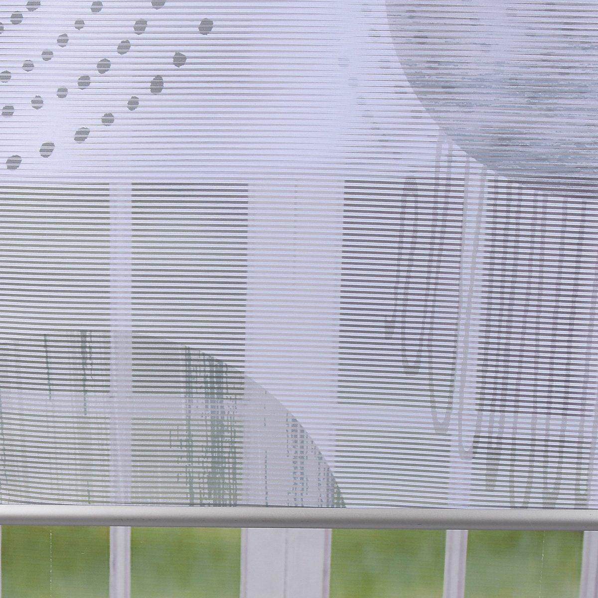 SCH/ÖNER LEBEN Schiebevorhang Fl/ächenvorhang Fl/ächenschal Paneel Digitaldruck Kreise grau 60x260cm