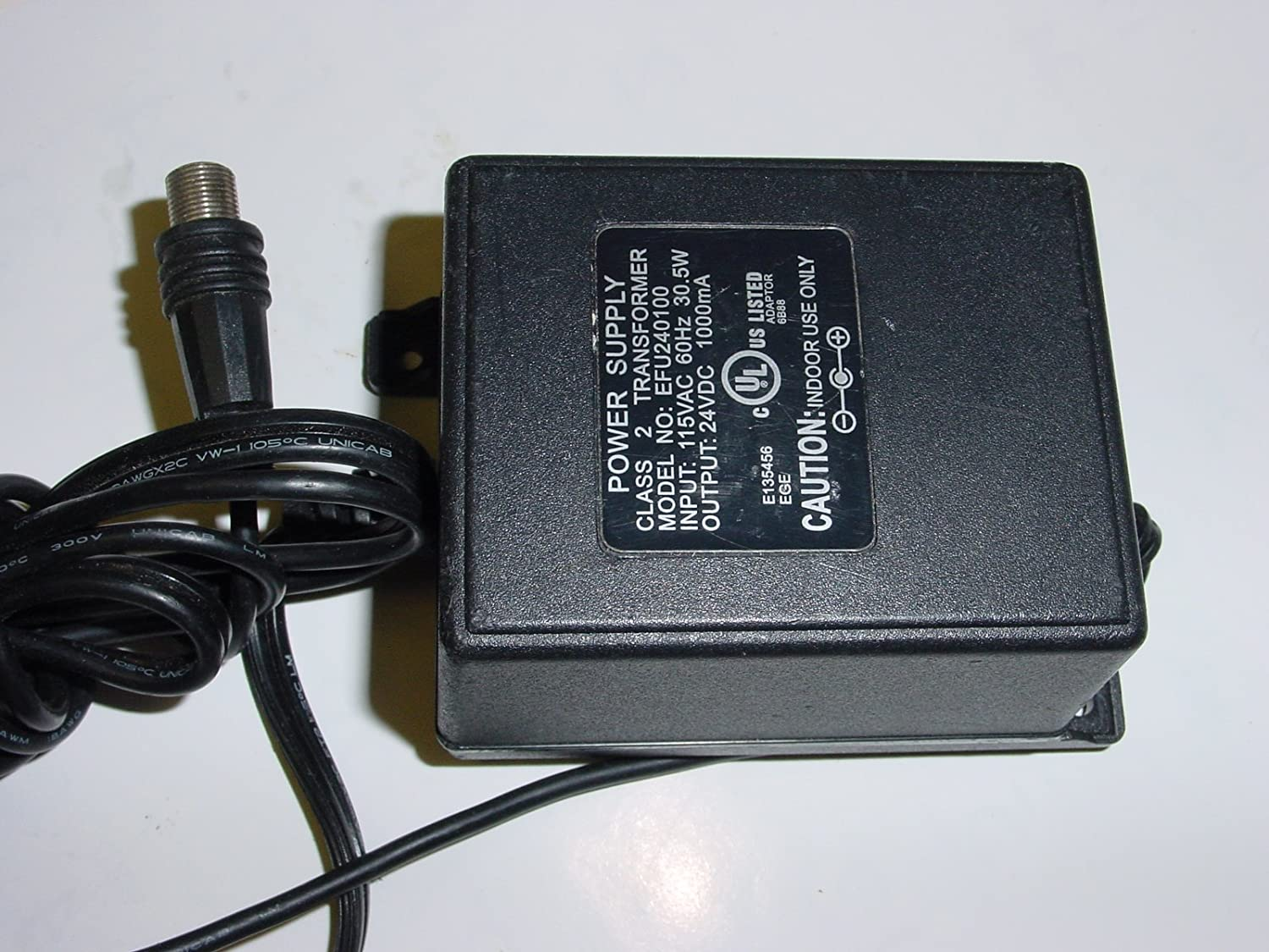 Amazon.com: Power Supply Adapter Coaxial Port EFU240100 ...