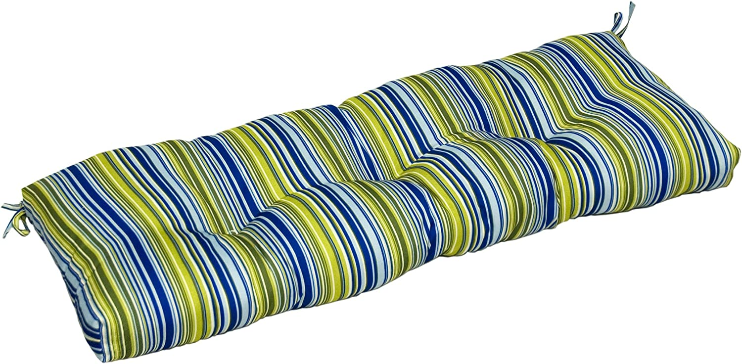 Greendale Home Fashions Indoor Bench Cushion with Vivid Stripe, 44-Inch