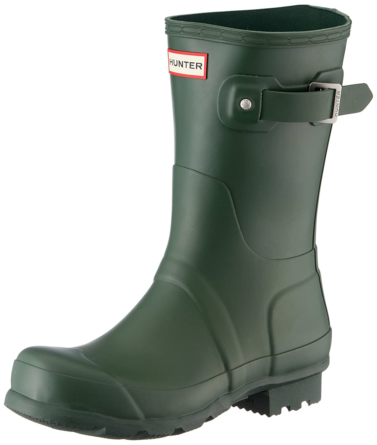 Hunter Women's Original Short Gloss Rain Boots B06X3QJJBV 8 UK 42 EU 10 US|Hunter Green