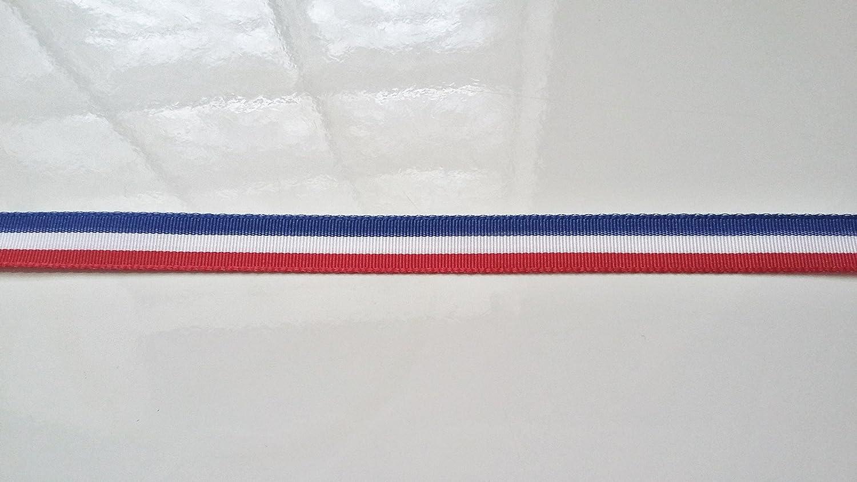 Schleifenband Wohn Band dreifarbig blau weiß rot – Breite 10 mm ...