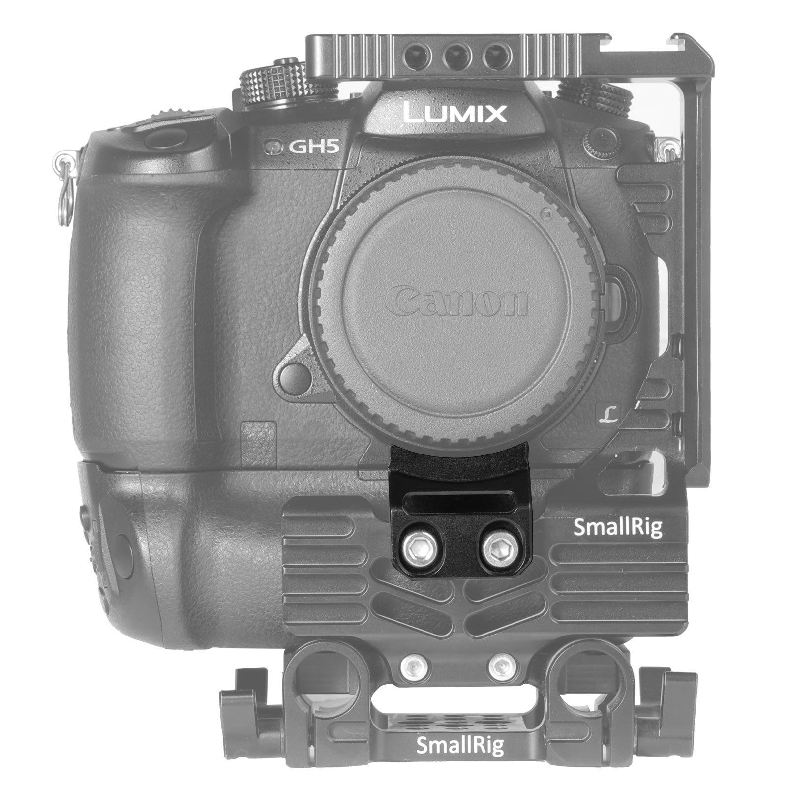 SmallRig GH5 Lens Adapter Support Bracket Lens Mount Converter Support Stabilization Camera Rig (Special Smallrig Half Cage 2024/2025/2067) - 2073 by SmallRig