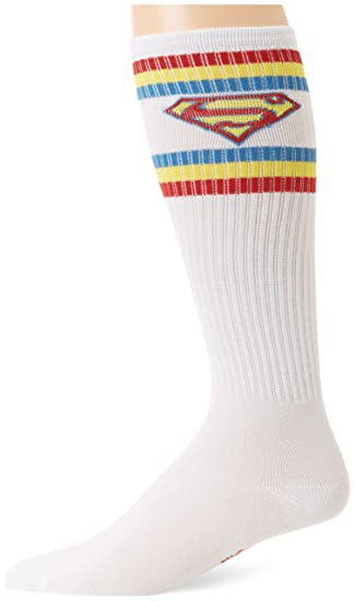 7914c282533 Amazon.com  DC Comics Men s Superman Shield Logo Athletic Knee High ...
