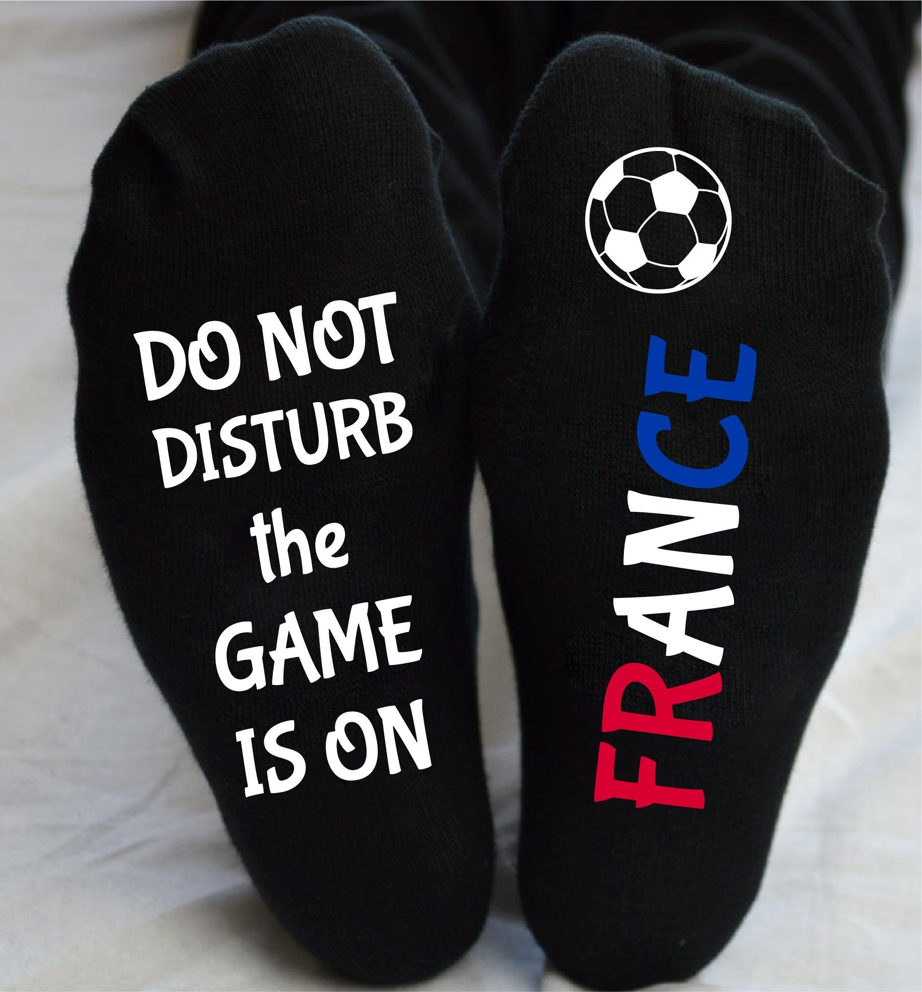 World Cup Socks France Do Not Disturb Unisex Funny Gift by Karybella