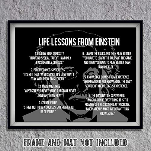 """Amazon.com: Einstein Quotes Wall Art- """"Logical Life Lessons ..."""