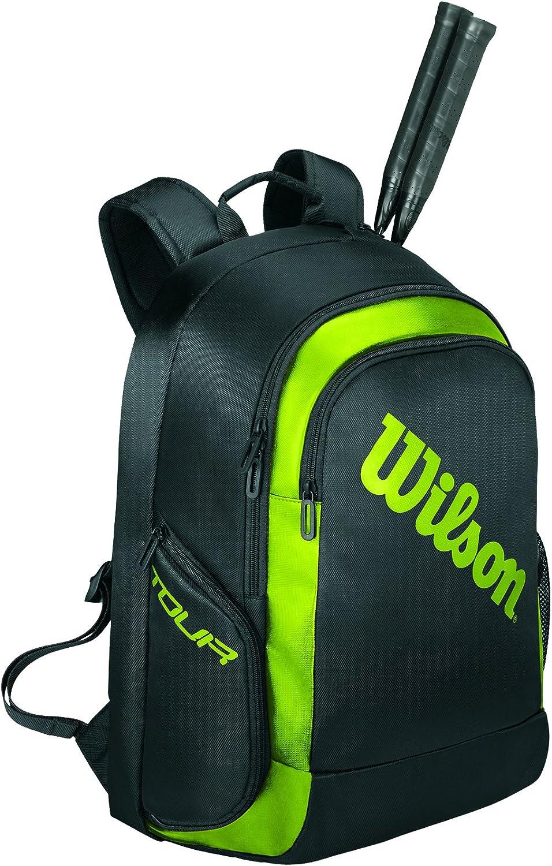para 2 Raquetas de b/ádminton WRR614900 Wilson Mochila de b/ádminton Tour Negro//Verde