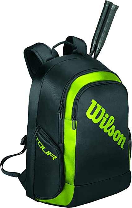 Wilson Mochila de b/ádminton Tour Negro//Verde para 2 Raquetas de b/ádminton WRR614900