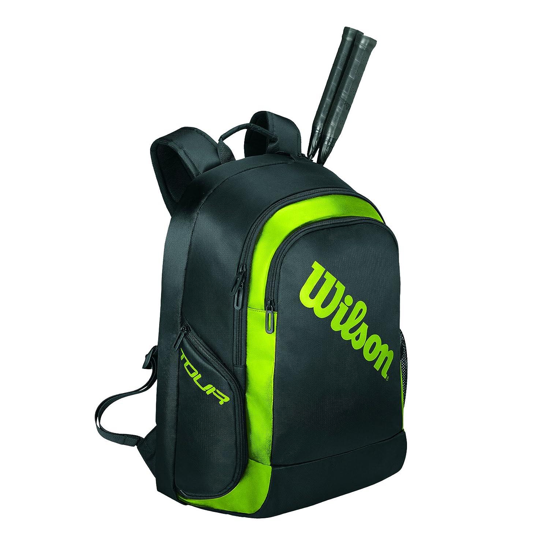 ウィルソン バッグ バックパック 2 (ラケット2本収納可能) B01COTQ90O  ブラック×ライム(WRR614900) 33×24×48cm