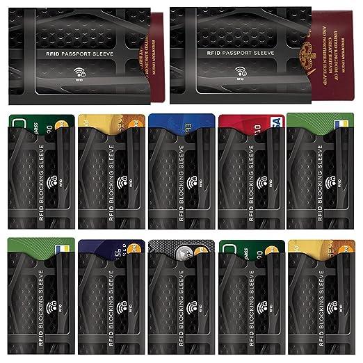12 opinioni per [12 Pack] Custodia Protettiva Blocco RFID per Portafogli- Proteggi Carte di