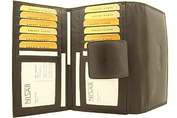 b22054857cc96 Buisness Damen Geldbörse Damen Portemonnaie aus Nappa - Leder mit ca. 24  Karten Fächern und