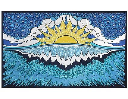 Amazoncom Sunshine Joy Sun Wave Surf Tapestry Tablecloth Beach