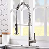VCCUCINE Commercial High Arc Single Handle Stainless Steel Brushed Nickel Kitchen Faucet with Dual Function Pull Down…