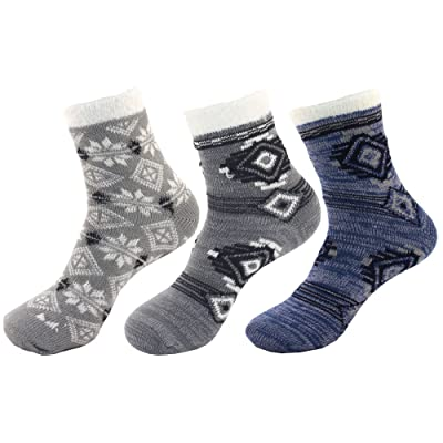 Women's Thick Vintage Pattern Cabin Crew Socks at Women's Clothing store
