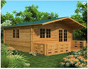 Mondocasette Casa Casa de Madera de jardín - Modelo Venta Grosor de Paredes 45 mm 500 x 500 cm, Bungalow Chalet Box: Amazon.es: Jardín