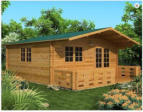 Mondocasette Casa Casa de Madera de jardín – Modelo Venta Grosor de Paredes 45 mm 500