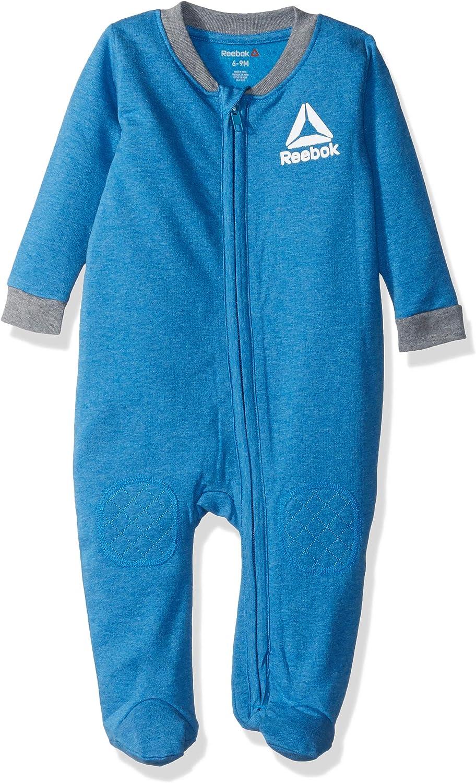 Reebok Baby Boys Long Sleeve Zip Front Fleece Footie