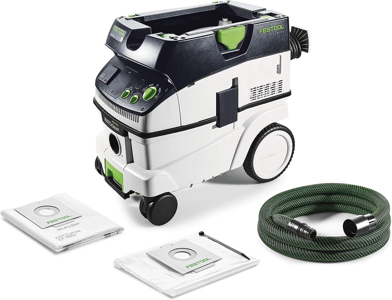 Festool CTL 26 E AC CLEANTEC-Aspirador 574945, Negro y verde, Size: Amazon.es: Bricolaje y herramientas