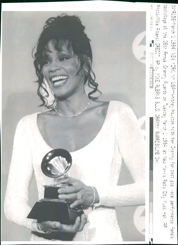 Amazon com: Vintage photo of Whitney Houston American singer