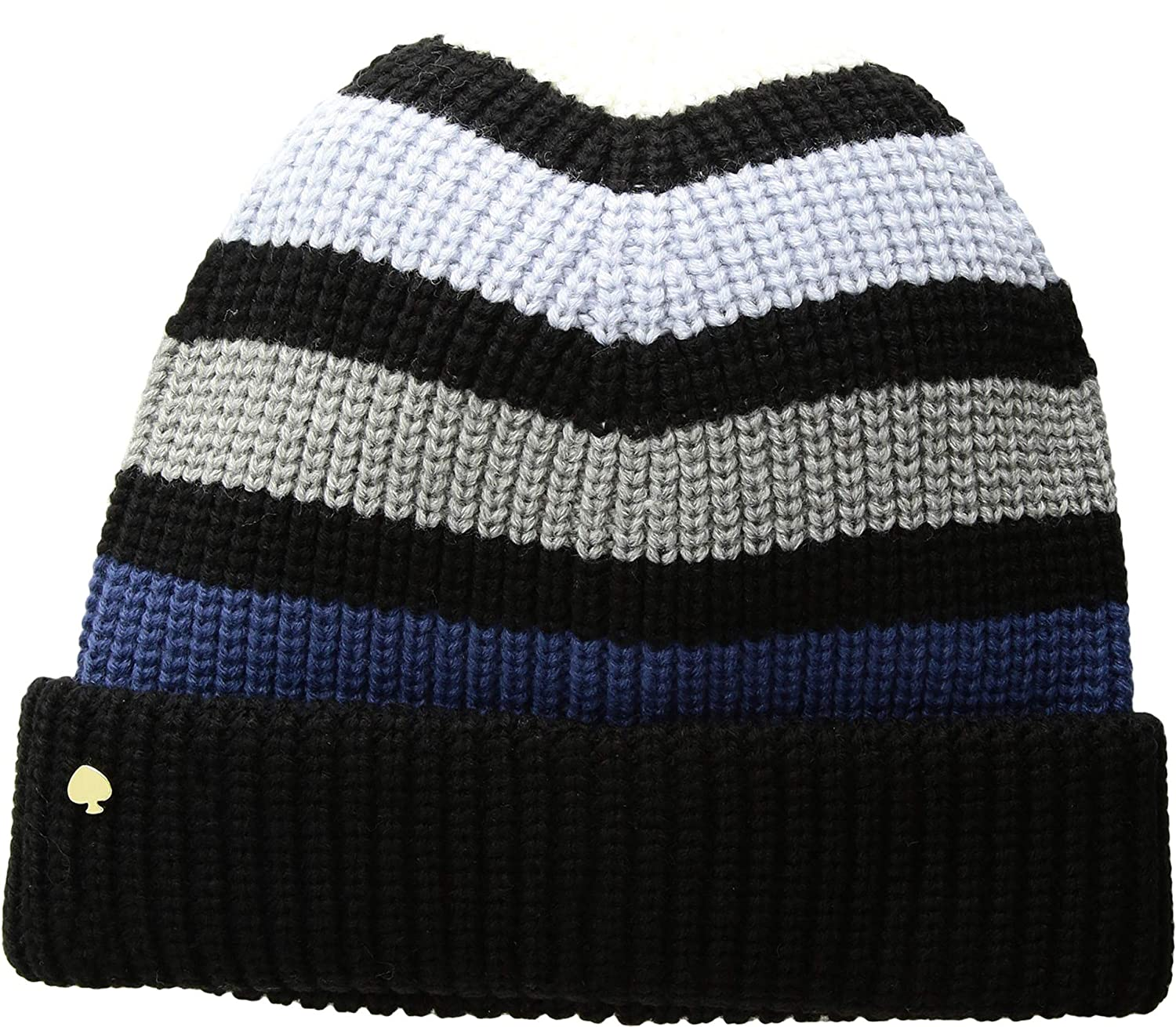 Kate Spade New York Womens Wide Stripe Beanie