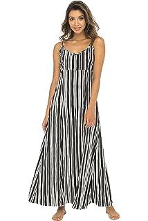 2c9d441b8564 Back From Bali Womens Sleeveless Summer Maxi Dress, Long Casual Striped  Sexy Beach Dress