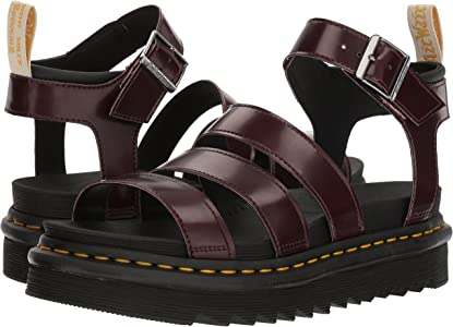 Dr.Martens Vegan Blaire Black Womens Felix Rub Off Strappy Platforms Sandals