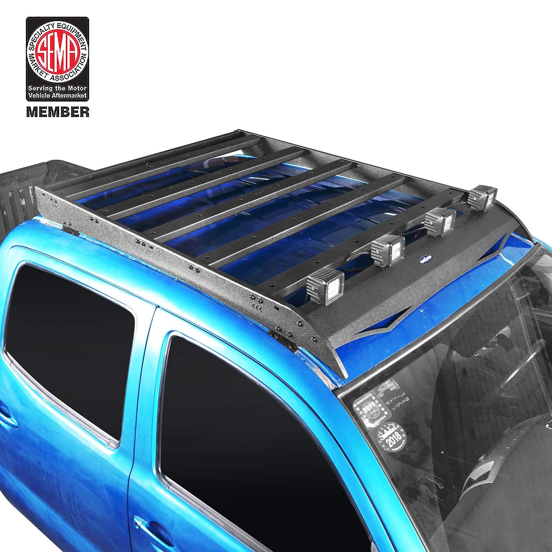 u-Box Tacoma 4 Doors Storage Cargo Basket Luggage Carrier Roof Rack w//4 X 18W LED Spotlight for 2005-2015 2nd Gen /& 2016-2019 3rd Gen Toyota Tacoma