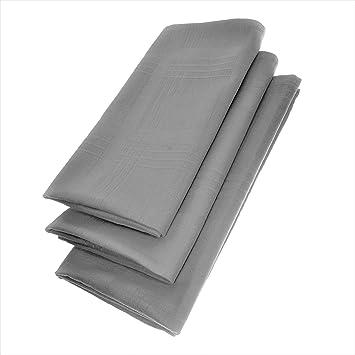 3er Pack Textil Servietten 45 x45cm 100/% Baumwolle 4 seitig eingesäumt Anthrazit
