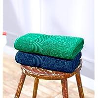 Swiss Republic Signature 2 Piece 630 GSM Cotton Bath Towel - Navy and Green