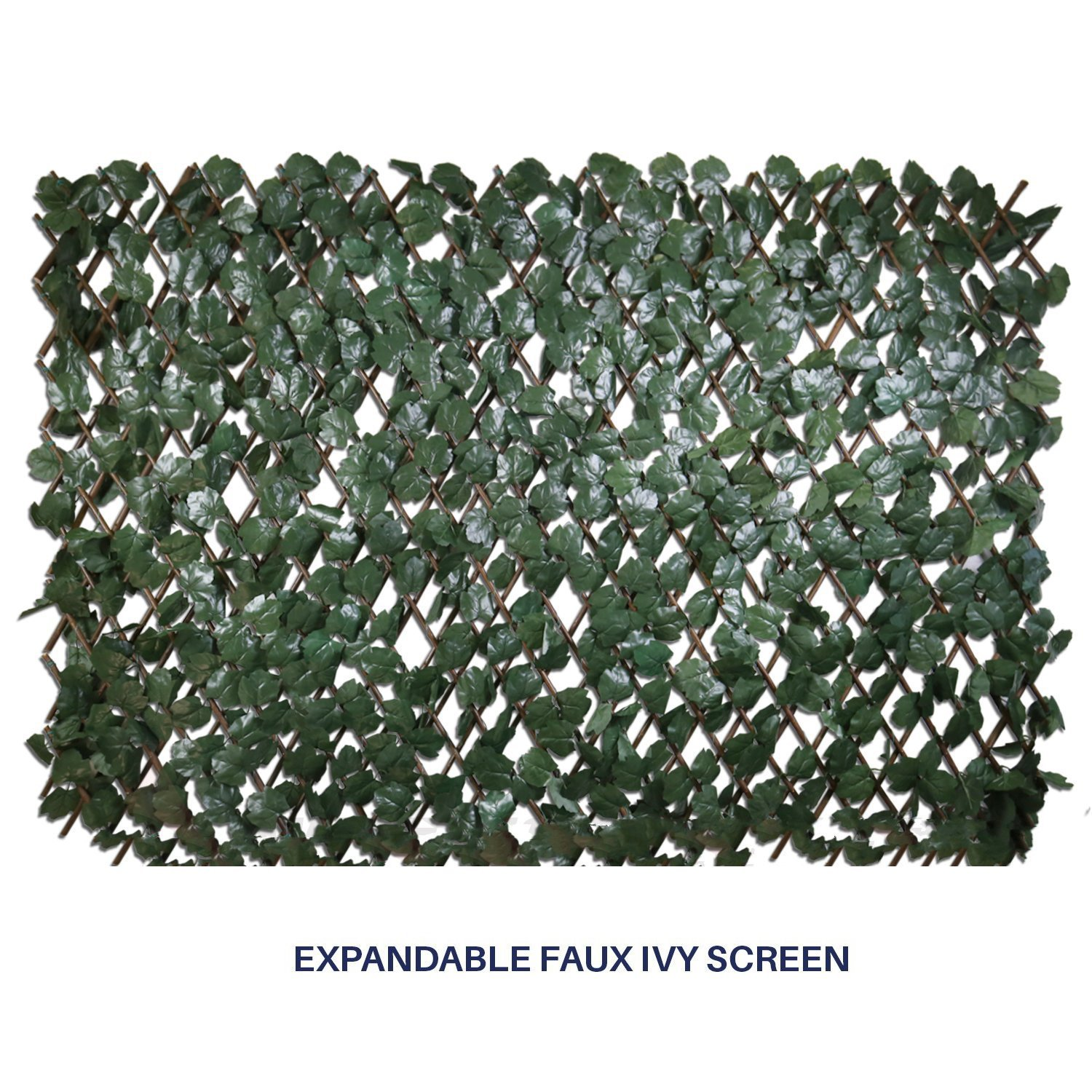 Shade Screen Artificial Leaf Faux Ivy Expandable/Stretchable Privacy Fence Screen (Single Sided Leaves) Outdoor/Indoor Backdrop Garden Backyard Home Decorations