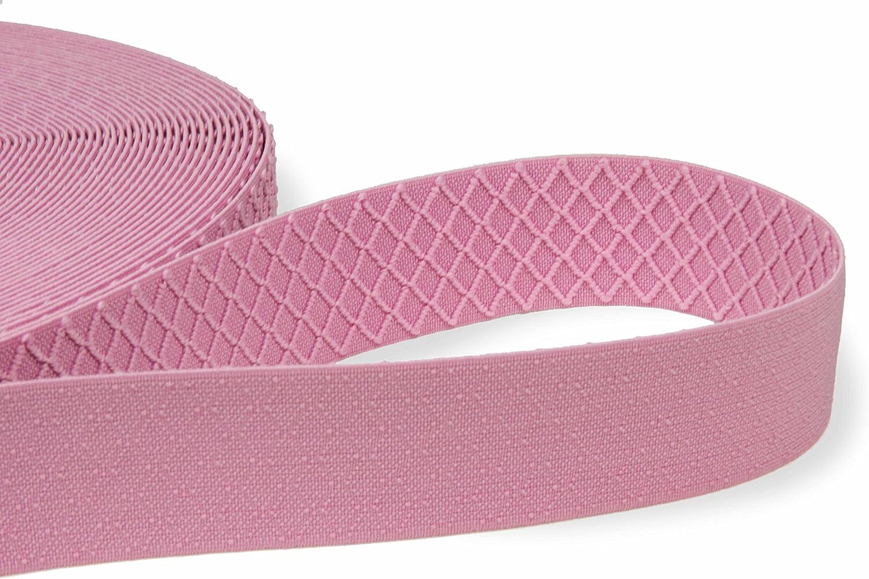 Einfach einen Gummizug n/ähen Elastisches Gummiband breit f/ür die Reparatur und Gestaltung von Hosenb/ändern oder Jogginganz/ügen Hochwertiges Gummiband breit 40 mm beidseitig verwendbar Pink