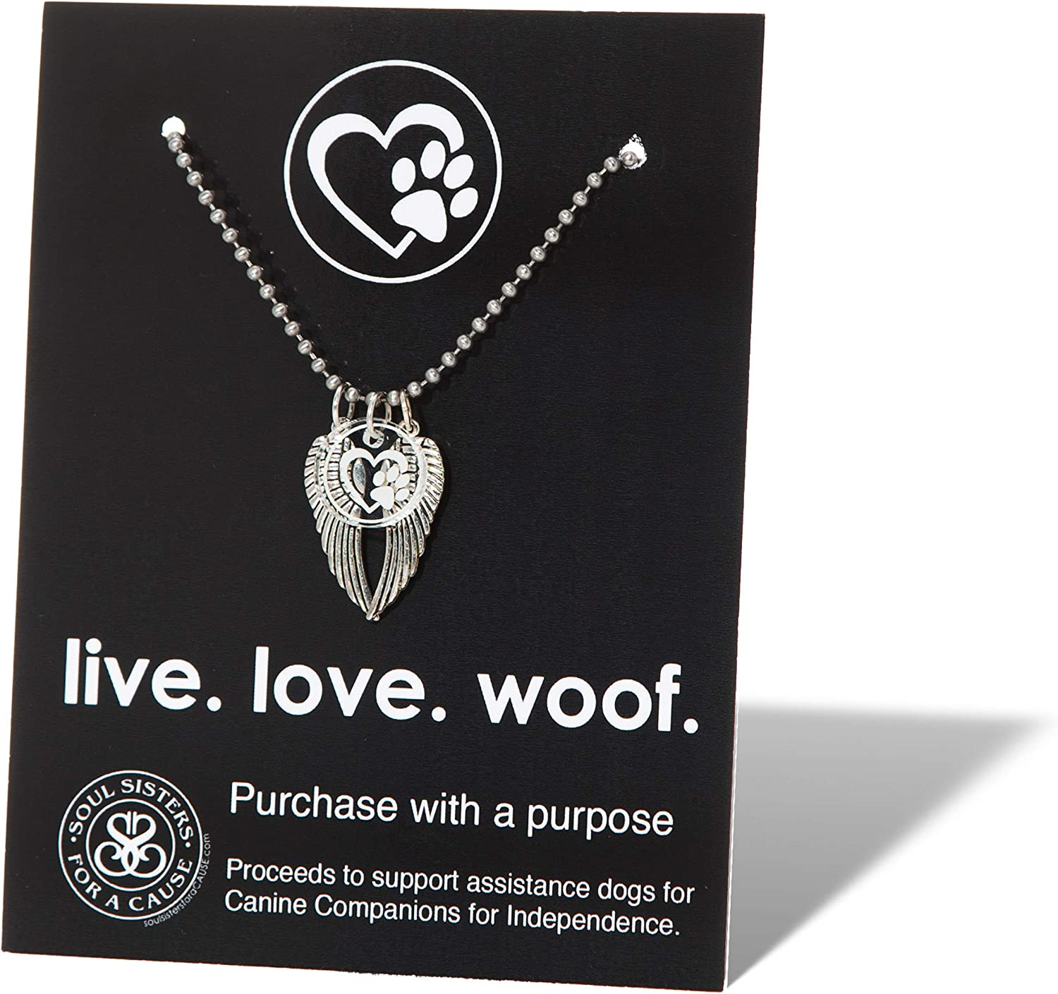 Pet memorial jewelry Gift for the pet owner Gift for her Pet angel necklace Rainbow bridge jewelry Paw prints on your heart Gift under 50