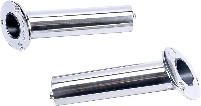 4x Marine Flush Mount Rod Holder 30 Deg Stainless Steel Fishing Rod Pod