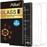 iPhone 8 plus 7 plus 6s plus 6 plus Screen Protector,[2 PACK]by Ailun,Tempered Glass,2.5D Edge,Scratch-Proof,Case Friendly,Siania Retail Package