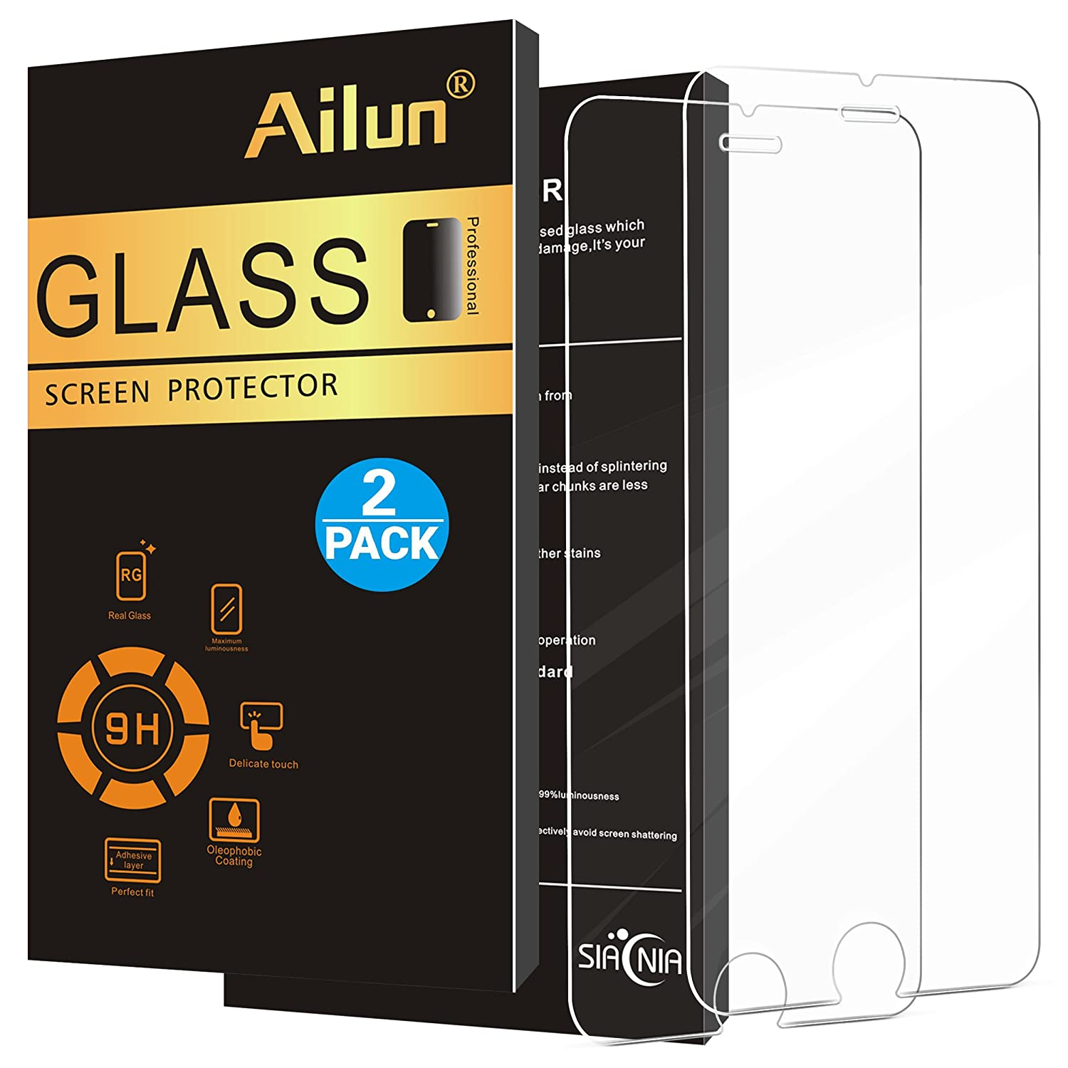 Ailun Screen Protector Compatible iPhone 8 7 6s 6 ,2.5D: Amazon.co.uk:  Electronics
