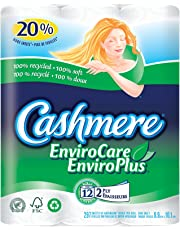 Cashmere EnviroCare Double Roll Recycled Bathroom Tissue, 297 Sheets per Roll - 12 Rolls