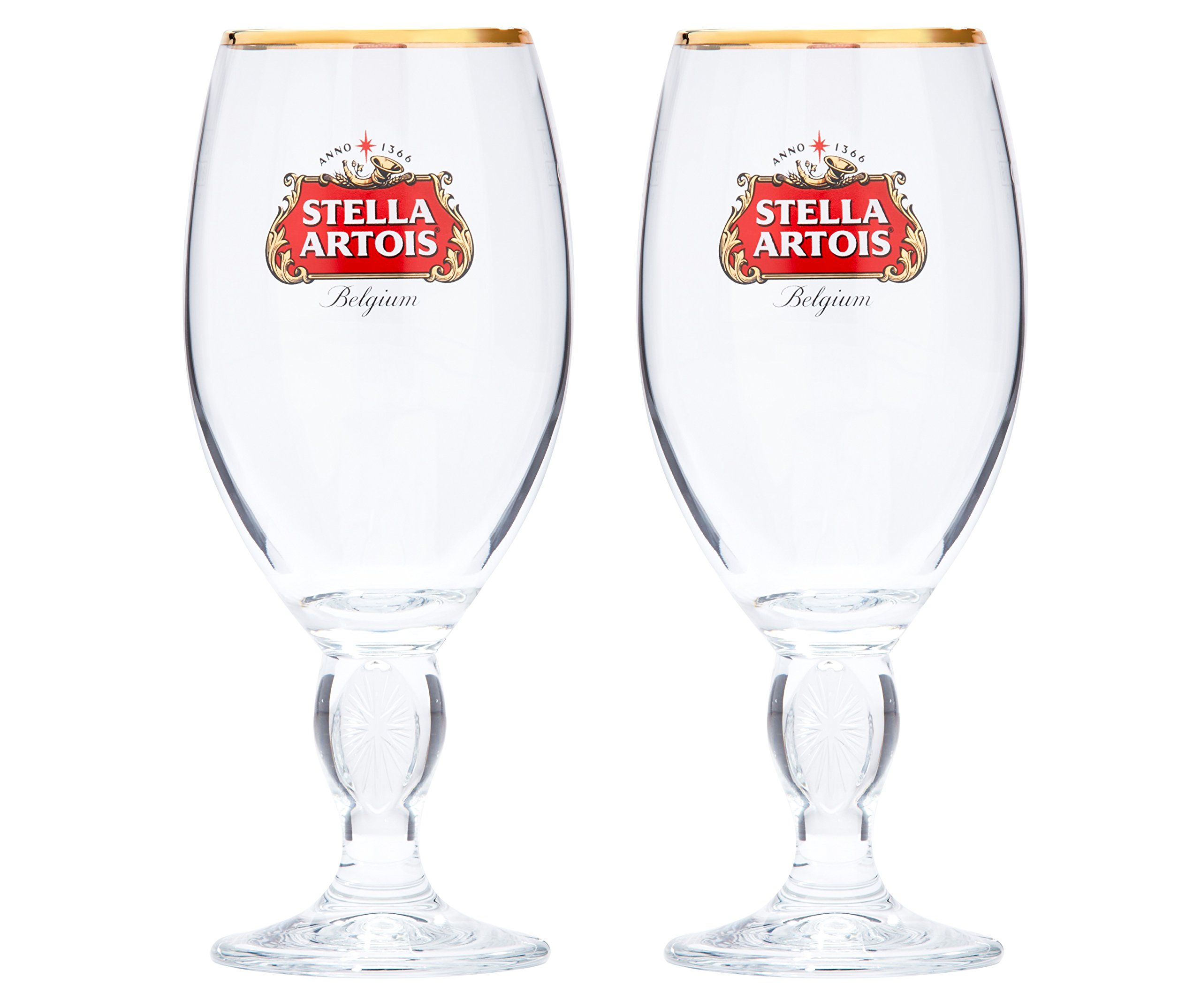 Stella Artois 2-Pack Original Glass Chalice, 33cl