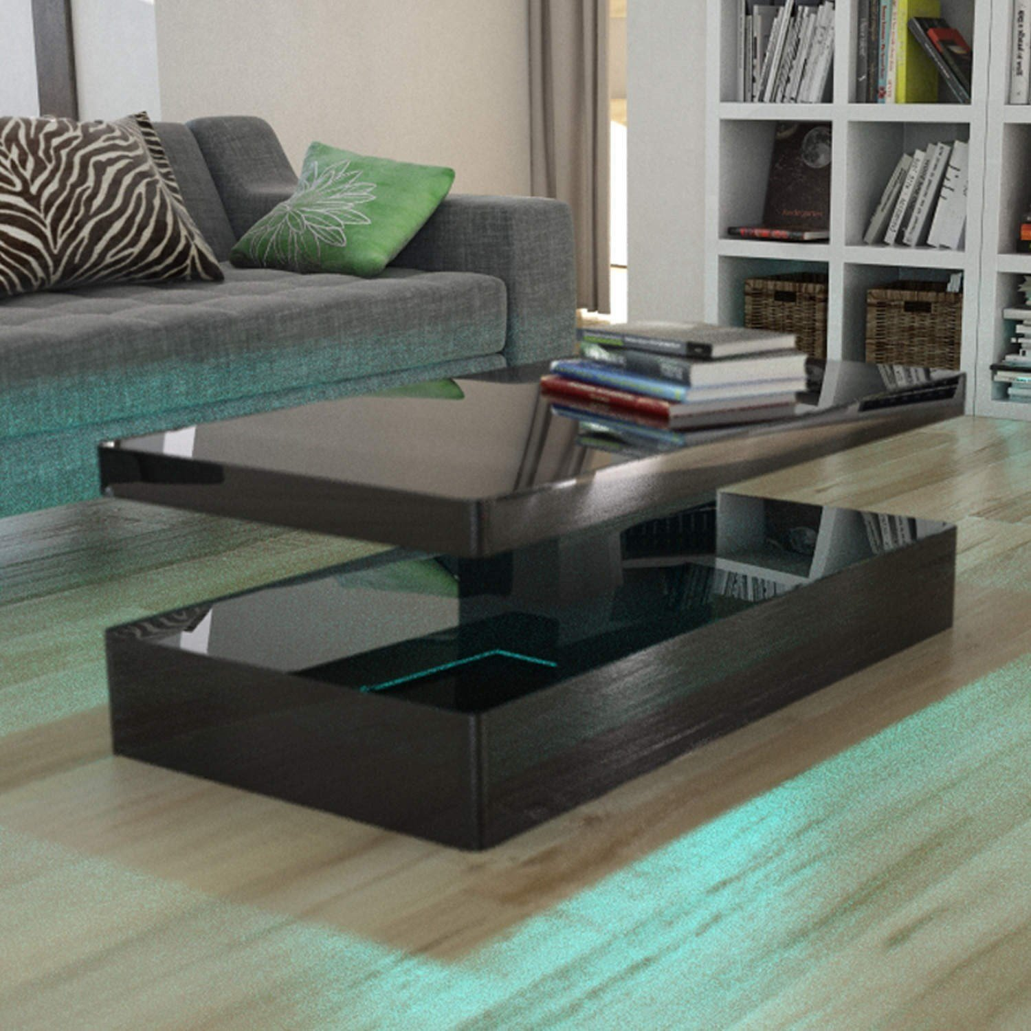 Arctic Black and White High Gloss Coffee Table Italian Design
