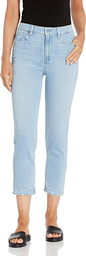 PAIGE Women's Hoxton Crop High Rise Slim Fit Jean
