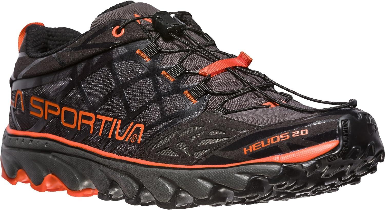 La Sportiva Helios 2.0, Zapatillas de Trail Running para Hombre 41 EU|Multicolor (Black / Tangerine 000)