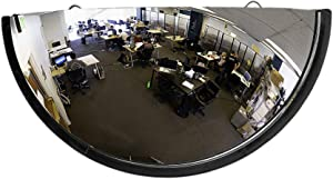 """26"""" Acrylic Bubble Half Dome Convex Mirror, Round Indoor Security Mirror for Driveway Safety Spots, Outdoor Warehouse Side View, Circular Wall Mirror for Office Use - Vision Metalizers"""